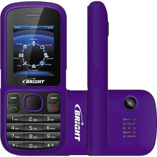 Celular Bright 2 Chips Bluetooth Câmera Lanterna Mp3 Fm