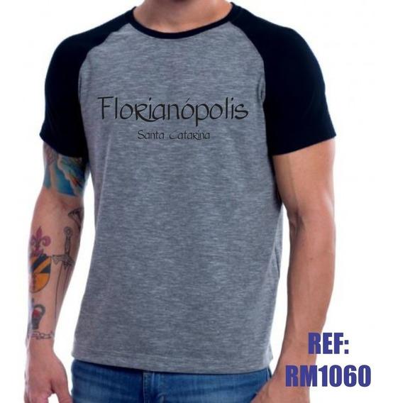 Camisa Raglan Florianópolis Santa Catarina Mescla