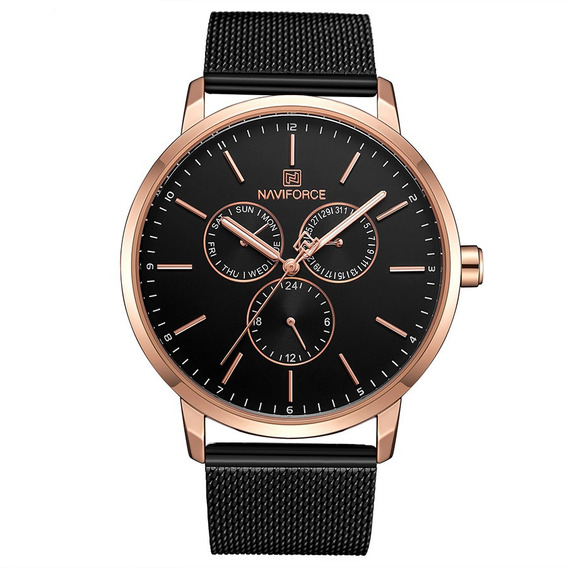 Relógio Masculino Naviforce 3001 Luxo Cronógrafo Original