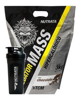 Hipercalórico Mass 3kg + Shaker - Nutrata