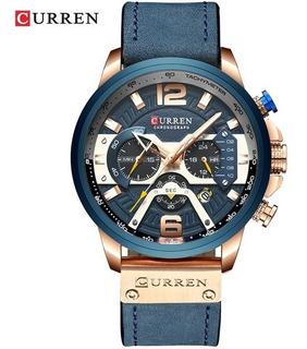 Reloj Hombre Curren 8329 Oa Deportivo Cuero Crono Caja