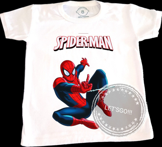 Spiderman Remera Manga Corta Superheroes