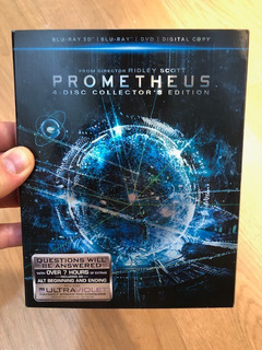 Blu Ray : Prometheus - 3d +2d+dvd : Cover Limited