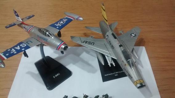 Set Aviões F-84g E F-100d Super Sabre 1/72 Mais 22 Figuras
