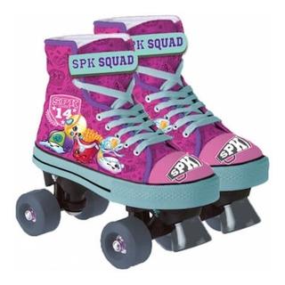 Patins Quad Roller 04 Rodas Shopkins 4070 Dtc Pink 34