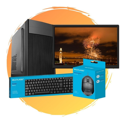 Pc Completo Intel Core I3/ 4gb Ram/ Ssd 240gb/ Monitor 24