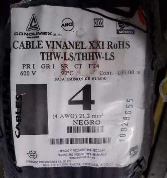 Cable Vinnanel Condumex #4 Blanco 32 Mts.