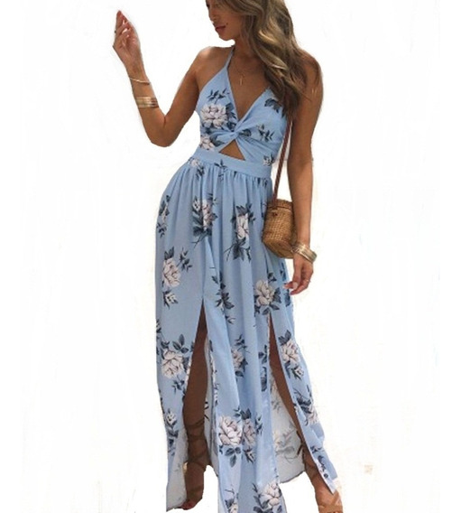 Vestido Longo Casual Moda Luxo Feminino