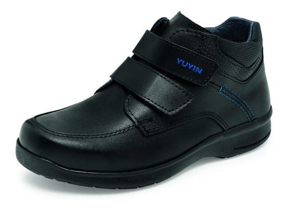 Zapato Escolar Para Niño Yuyin 27210 Negro 22-25.5