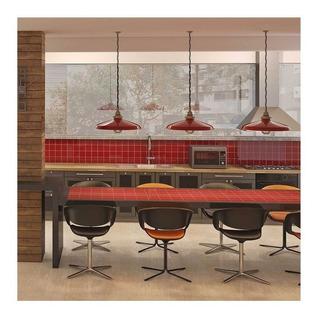 Revestimento Esmaltado Brilhante Vermelho 10x10cm 1,44m²