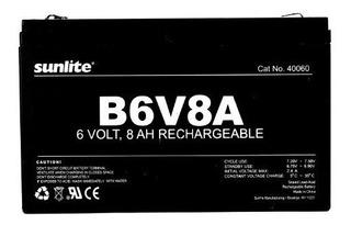 Sunlite 40060su B6v8a 8amp Hour Bateria De Respaldo De Emerg