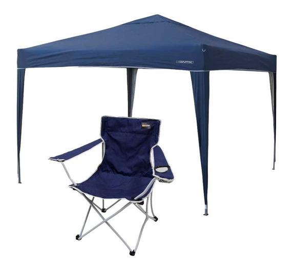 Gazebo Articulado Ntk Trixx + Cadeira Nautika Cor: Azul