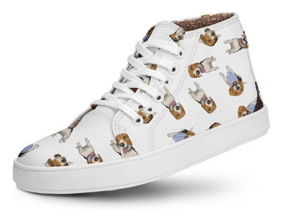 Tênis Cano Alto Usthemp Half Vegano Dog Beagle