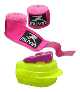 Kit Muay Thai Boxe Masculino Feminino Bandagem + Bucal