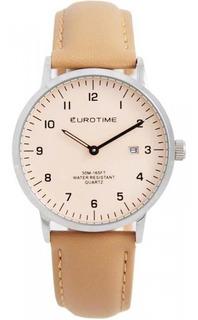 Reloj Eurotime Hombre 11/8402 Correa Cuero Calendario Sumerg