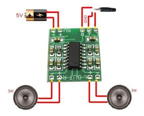 Kit 5 Placas Mini Amplificador Digital 3w+3w Frete R$ 12,00