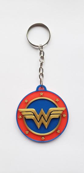 Llavero Mujer Maravilla Wonder Woman Impreso 3d