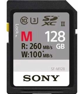 Cartão De Memória Sd Sony Profissional 128gb 260mb/s