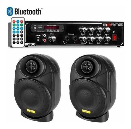 Kit Som Ambiente Borne Rc7000 Usb Fm + 2 Elips Ll Audio 4