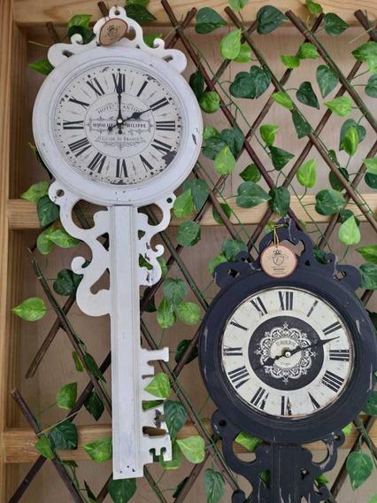 Set De 2pz Decorativo De Pared Reloj Vintage