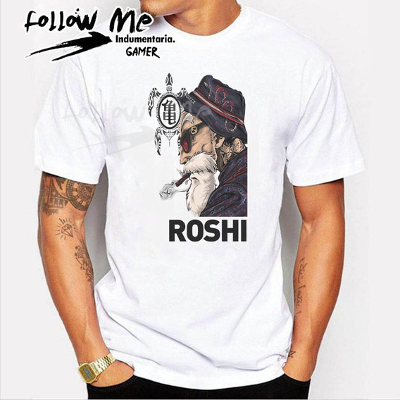 Remeras Dragon Ball Z, Super. Maestro Roshi, Goku Rosario