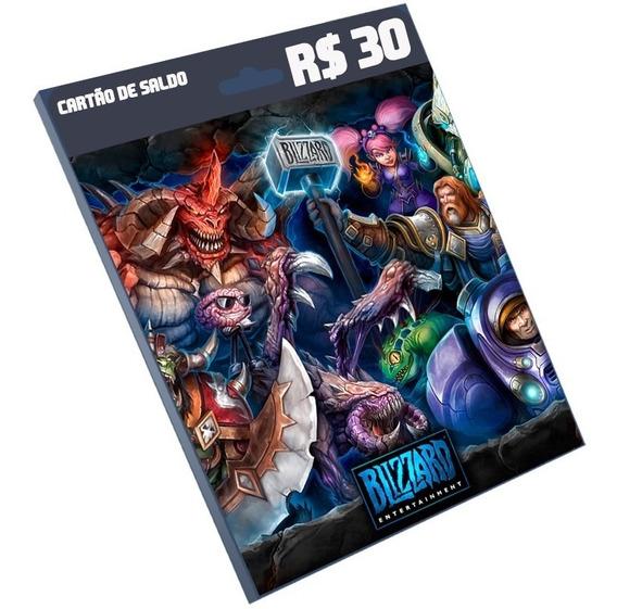 Cartão Blizzard R$30 Reais Battle.net Overwatc Imediato