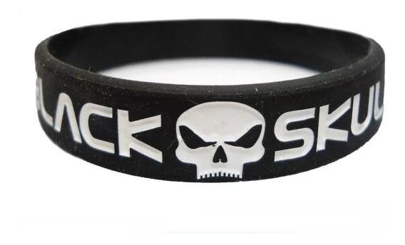 Pulseira Fitness De Musculação Black Skull