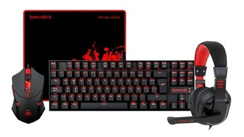 Kit Gamer Redragon K552 Teclado/mouse/audif/pad - Revogames