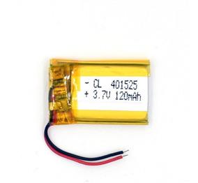 Bateria 3,7v Com 120mah 4mm X 15mm X 25mm