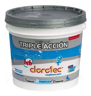 Pastillas De Cloro Triple Accion 4 Kg Clorotec - Rex