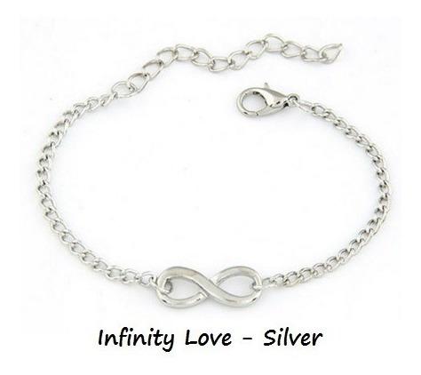 Pulseira Simbolo Amor Infinito Prateada Dourada Aliança Moda