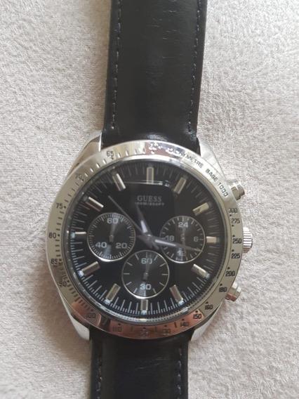 Relógio Guess Na Caixa Original Masculino Preto Ótimo Estado