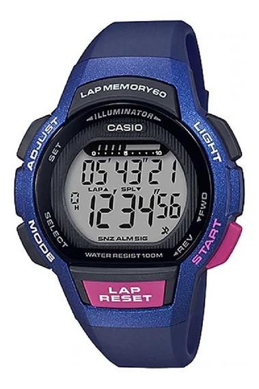Relógio Casio Feminino Lap Memory60 Standard Lws-1000h-2avdf