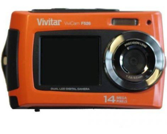 Câmera Digital Vivitar-vivicam-f526-duplo Visor-a Prova Dagu