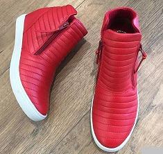 Tênis Sneaker Ferrari Em Couro Salto Embutido Orcade