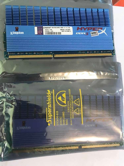Memória Ram Hyper X Kingston 4gb Ddr3 1600mhz Nova