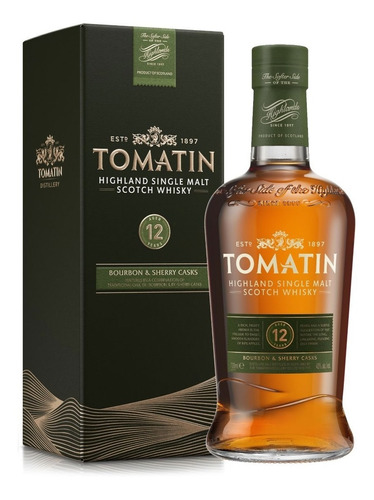 Whisky Tomatin 12 Años Single Malt 700ml En Estuche