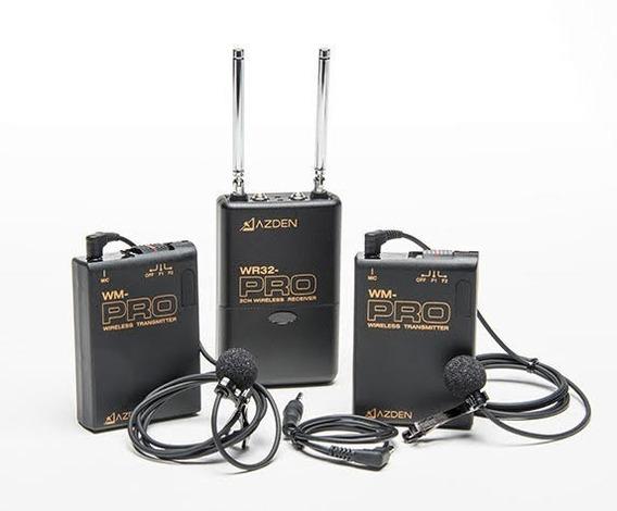 2 Lapela Sem Fio Azden (duplo) Profissional + Bateria