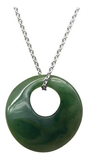 Collares Para Mujer Dama Jade Collar 18-20 Plata Ajustable