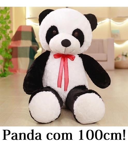 Urso Ursinho Panda 100cm Pelúcia Anti Alergica Casa Do Urso