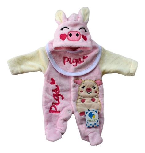 Imagen 1 de 1 de Mameluco Pijama Para Bebé Cerdita Talla 3-6 Meses