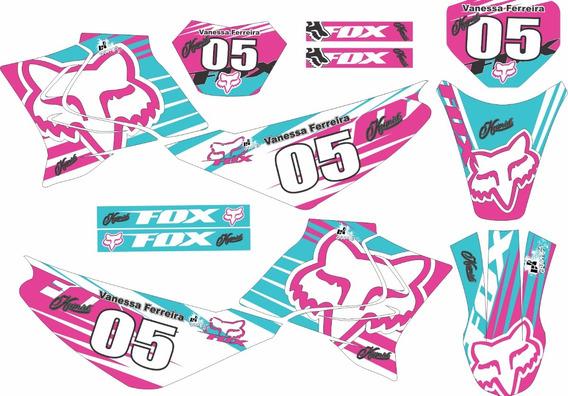 Kit Trilha Adesivo Xtz 125 Moto Cross F. Kr02