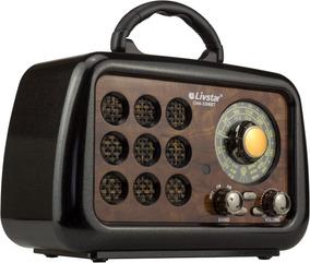 Radio Am Fm Som Bluetooth Vintage Retro Antigo Usb Bateria