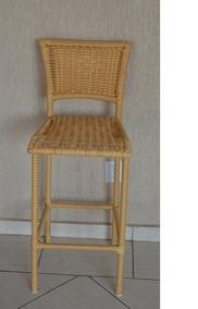 Banqueta Cadeira Alta Em Alumínio E Fibra Sintetica