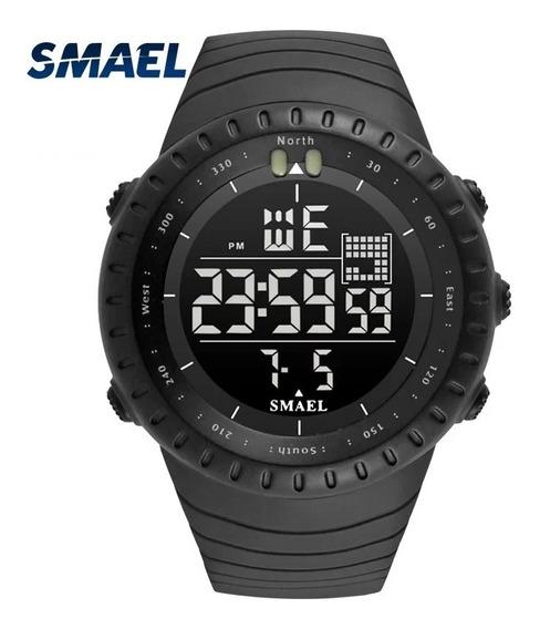 2 Relógio Smael 1237 Verde Militar Esportivo A Prova D