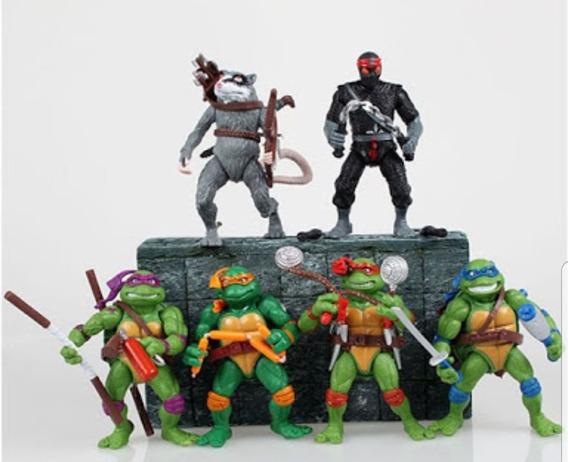 Tartarugas Ninja Lote 6 Bonecos 12cm