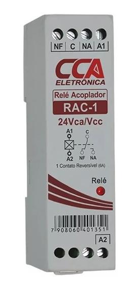 Relé Acoplador Rac1- 24v 24vca/vcc1 Contato Reversível