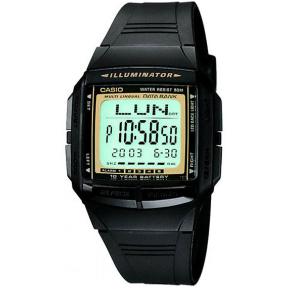 Relógio Casio Masculino Data Bank Db-36-9avdf.