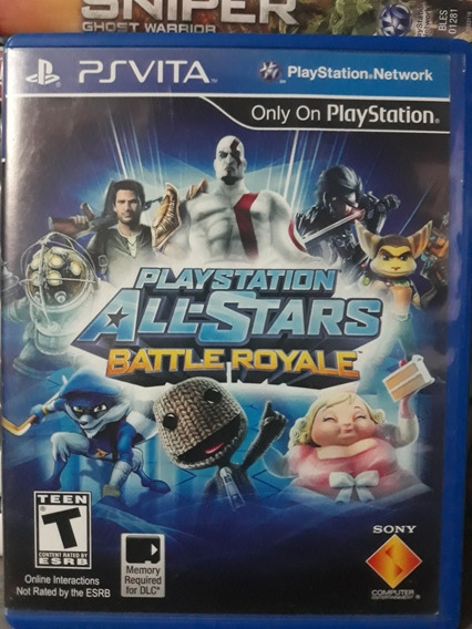 Playstation All-stars Battle Royale Jogo P/ Playstation Vita
