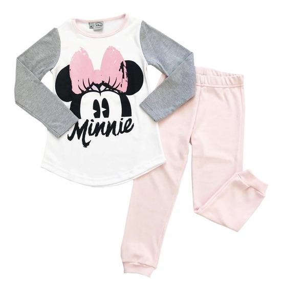 Pijama Niña Manga Larga Disney Minnie Mouse Mundo Manias